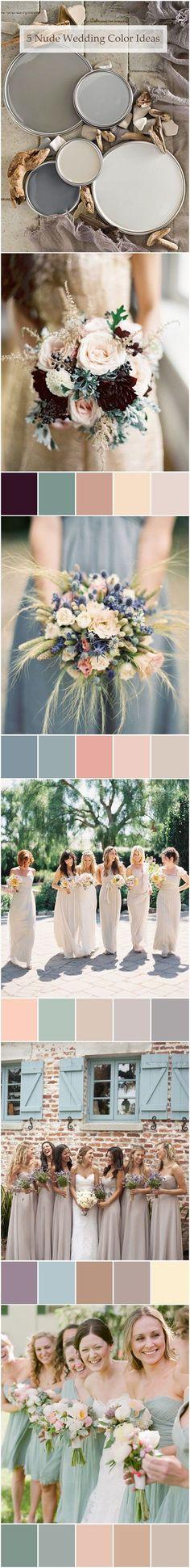 top 6 trending nude neutral wedding color ideas #weddingcolors #weddingideas | thebeautyspotqld.com.au