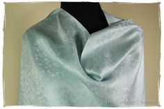 From Here To Eternity Blue Silk Scarf / Shawl