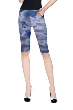 Clouds Cropped Leggings  only $25 by designer Nikky Starrett  Free shipping on orders over $50!