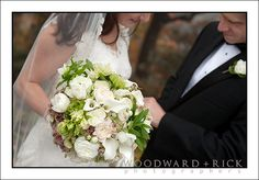 love this bouquet- the green, whites.  could incorporate a little more blue