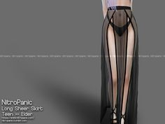 NitroPanic - The sims 4 CC long sheer skirt Package Info: 2 Swatches Skirt LODs Shadow Map Specular Map Normal Map Smo. Sims 4 Mods Clothes, Sims 4 Clothing, Sims Mods, Sims 4 Anime, Sims 4 Gameplay, Sims 4 Collections, Sims4 Clothes, Sims 4 Dresses, Sims 4 Characters