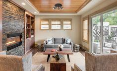 Réflecteur 3 lumières 806113 BZ  #Salon de style #transitionnel avec #réflecteurdirigeable. #Transitional #livingroom with #tracklighting.