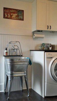 Rustic laundry room ideas farmhouse laundry sink laundry room ideas with sink best utility sink ideas on rustic utility sinks rustic laundry room decorating Laundry Tubs, Laundry Room Sink, Laundry Room Remodel, Laundry Room Design, Basement Laundry, Laundry Room Utility Sink, Garage Bathroom, Laundry Room Layouts, Rustic Laundry Rooms