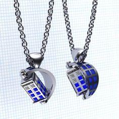 TARDIS Pendant by Paul Michael Design. https://www.etsy.com/listing/181072525/the-spin-doctor-tardis-pendants?ref=shop_home_active_2