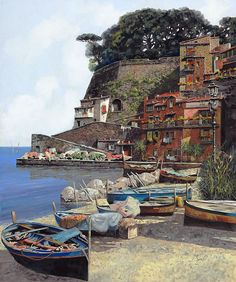 """Italian painter Guido Borelli, known world wide for his lyrical landscapes and Italian village scenes has created an exclusive collection of original oil paintings for his February 2011 """"The Return of The Master"""" Art Show. Inspired by the movement of shadows, Guido's oil paintings reflect nature as their focal points depicting Italian landscapes, homes and villas of Northern Italy and the Alps."""