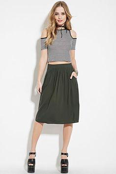 Shirred A-Line Skirt | Forever 21 - 2000141051