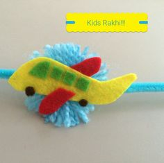 Rakshabandhan DIY kids Rakhi aeroplane boys love Festive Crafts, Diy Crafts, Handmade Rakhi Designs, Art Classroom Decor, Rakhi Making, Diwali Craft, Silk Thread Bangles, Felt Sheets, School Decorations