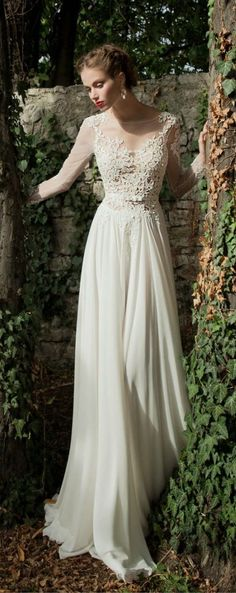 Hey future brides, here is another amazing bridal collection. It is Berta Bridal Winter a wonderful collection of long sleeve wedding dresses. Wedding Dresses 2014, Wedding Dress Chiffon, Wedding Dress Sleeves, Wedding Gowns, Lace Wedding, Backless Wedding, Lace Chiffon, Spring Wedding, Wedding Inspiration