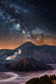 "earthyday: ""  Bromo in the Milky Way  by Ilhan Eroglu """