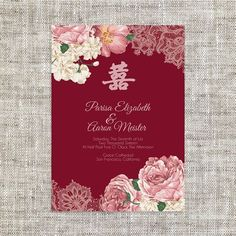 Image result for chinese wedding banquet invitation