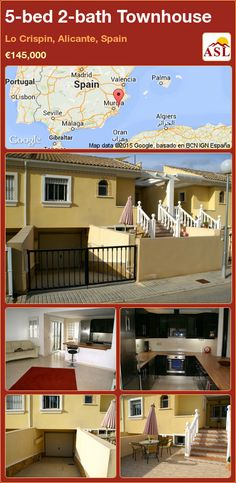 5-bed 2-bath Townhouse in Lo Crispin, Alicante, Spain ►€145,000 #PropertyForSaleInSpain