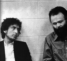 Bob Dylan and Garth Hudson by Barry Feinstein
