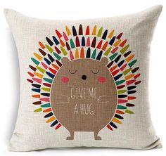 Hedgehog Hugs Throw Pillow