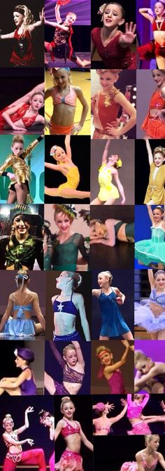 All the different faces and dance sides to chloe p.s I am a big fan of dance moms and chloe is my favourite