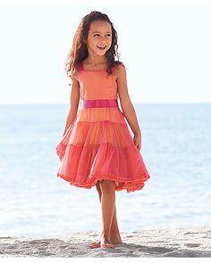 coral festival girls dress