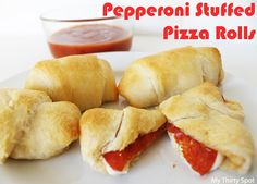 Friday Happy Hour: Appetizer Edition - Pepperoni Stuffed Pizza Rolls - MyThirtySpot