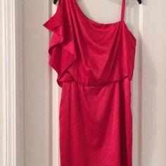 Jessica Simpson one shoulder dress Adorably sexy one shoulder dress. Size 8. Worn only once to a Christmas party. Jessica Simpson Dresses One Shoulder