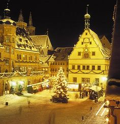 Rothenburg, Germany --I hear Kathe Wolfarth calling me... Love these stores! Rothenburg Christmas Market Square.