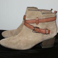Coach Shoes | Coach Pauline Low Heel Ankle Booties Suede Hw6732 | Poshmark Suede Booties, Ankle Booties, Low Heels, Wedge Heels, Shoes Heels Boots, Heeled Boots, Coach Shoes, Booty, Blossoms