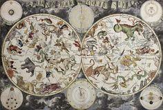 Planisferio celeste con los Signos del Zodíaco, Año 1680