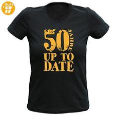 Lady Shirt 50 Jahre up to date Damen Shirt Geburtstag Geschenk T-Shirt geil bedruckt Goodman Design (*Partner-Link)