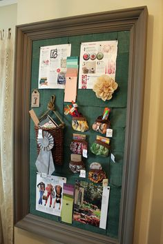 note the purses attached to the board - for storage!