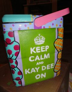 Kappa Delta Cooler idea. Check out this cooler for some #KD cooler inspiration. Keep Calm and KayDee On.