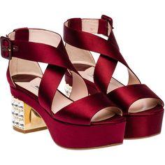 Miu Miu Sandals ($1,150) ❤ liked on Polyvore