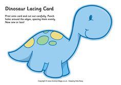 Dinosaur lacing card 6
