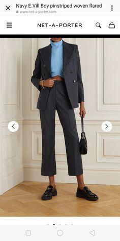Prada Tote, Alexa Chung, Flare Pants, Fashion Advice, Woven Fabric, Menswear, Normcore, Blazer, Navy