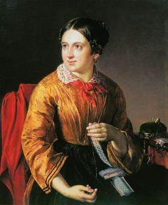 La dame. Huile sur toile 1830 de Vassili Andreïevich TROPININE (russe 1776-1857)