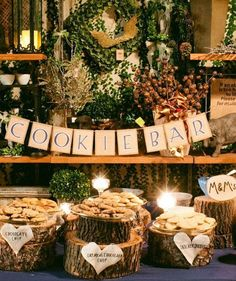 20 Amazing Winter Wedding Ideas Incredible Ideas for Fall Wedding Decorations Cookie Bar Wedding, Wedding Cookies, Dessert Bar Wedding, Wedding Candy, Brunch Wedding, Wedding Cupcakes, Different Wedding Ideas, Cute Wedding Ideas, Trendy Wedding
