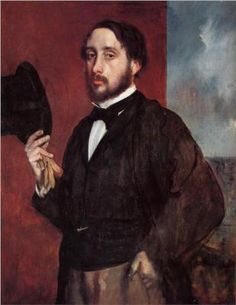 Edgar Degas - Self Portrait Saluting