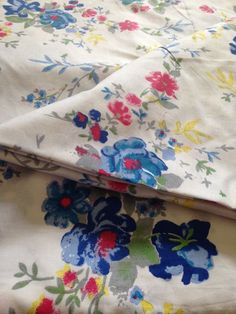 Check out Indian Fabric, Flower Garden Print, Indian Cotton, Floral Print, Blue Flowers, Printed Cotton,Indian Fabric,Fabric by the yard, Nature Print on fiberstofabric