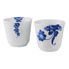 Blå blomst termokop