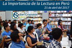 """""""La lectura abre posibilidades eso es lo que necesita el Perú mejorar la educación y que también logremos que la población pueda leer acceder a la lectura... No podemos dejar de contar con el apoyo de la lectura como fuente de auto educación y que esa auto educación pueda influir positivamente en la educación para crear alternativas diferentes en la población peruana."""" #Lectura #Educacion #Libros #Peru #SanCristobalLibros"""