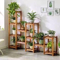 Indoor Plants, Indoor Outdoor, Indoor Plant Decor, Indoor Plant Shelves, Indoor Garden, Corner Plant, Wooden Plant Stands, Outdoor Flowers, House Plants Decor