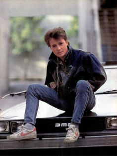 """Michael J Fox as Marty McFly in the """"Back to the Future"""" movies The Future Movie, Back To The Future, Ferris Bueller, Bttf, Marty Mcfly, Steven Spielberg, Norma Jeane, Film Serie, Good Movies"""