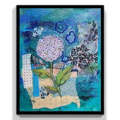 Painting Collage, Flower Canvas, Mixed Media Canvas, Fabric Scraps, Floral Flowers, Colorful Decor, Great Artists, Art Decor, Art Ideas