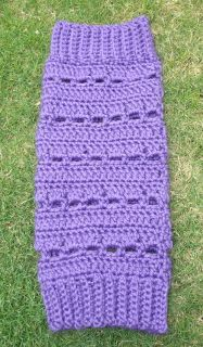 Crochet Bernat Satin Legwarmers | Free Crochet Pattern