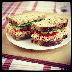 Garden fresh tuna salad sandwich