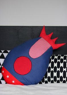 pokój dziecka - poduszki-Poduszka kosmiczna rakieta duża