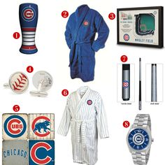 8 Great Father's Day Gift ideas for the avid Chicago Cubs Fan! See all of our Cubs gifts at http://www.topnotchgiftshop.com/chicago-cubs.html