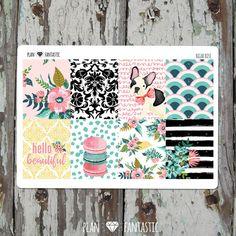 Full Box Planner Sticker - Vintage Floral Sticker Kit - Erin Condren - Filofax - Midori - Happy Planner - Travelers Notebook by planfantastic