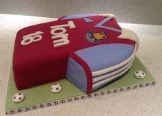 West Ham football shirt cake