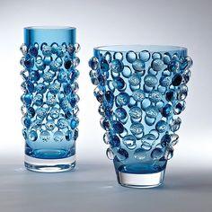 Global Views Bubble Wide Vase-Cobalt - Global Views 6-60268