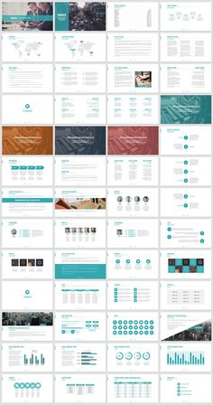 PLEASE INSTALL THE REQUIRED FONTS AND RESTART YOUR SYSTEM BEFORE LAUNCHING THE PRESENTATION. Requires Powerpoint! A minimal business presentation (in teal, black and blue options) that is a