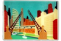 Chicago Bridges cheese board, $32 at Chicago Architecture Foundation