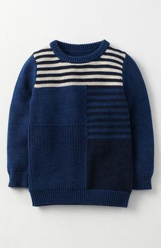 Mini Boden 'Harvester' Knit Sweater (Toddler Boys, Little Boys & Big Boys)