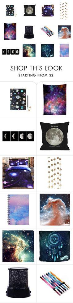 """Galaxy Room Decor #2"" by indigofudge on Polyvore featuring interior, interiors, interior design, home, home decor, interior decorating, Nikki Strange, WALL, One Bella Casa and Berylune"
